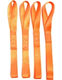"12"" Soft Straps 4-pack 2,300 LB Heavy Duty Orange Tie Down for Motorcycle ATV Snowmobile Dirt Bike Boats & Truck Cargo to Prevent Scratches"