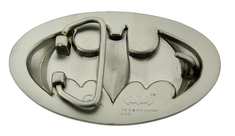 Batman 3d Silver Blue Belt Buckle Official Dark Knight Multicolored Blue Silver Shiny