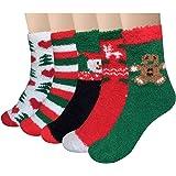 Loritta 5 Pairs Women Warm Fuzzy Fluffy Socks Super Soft Cozy Home Slipper Socks