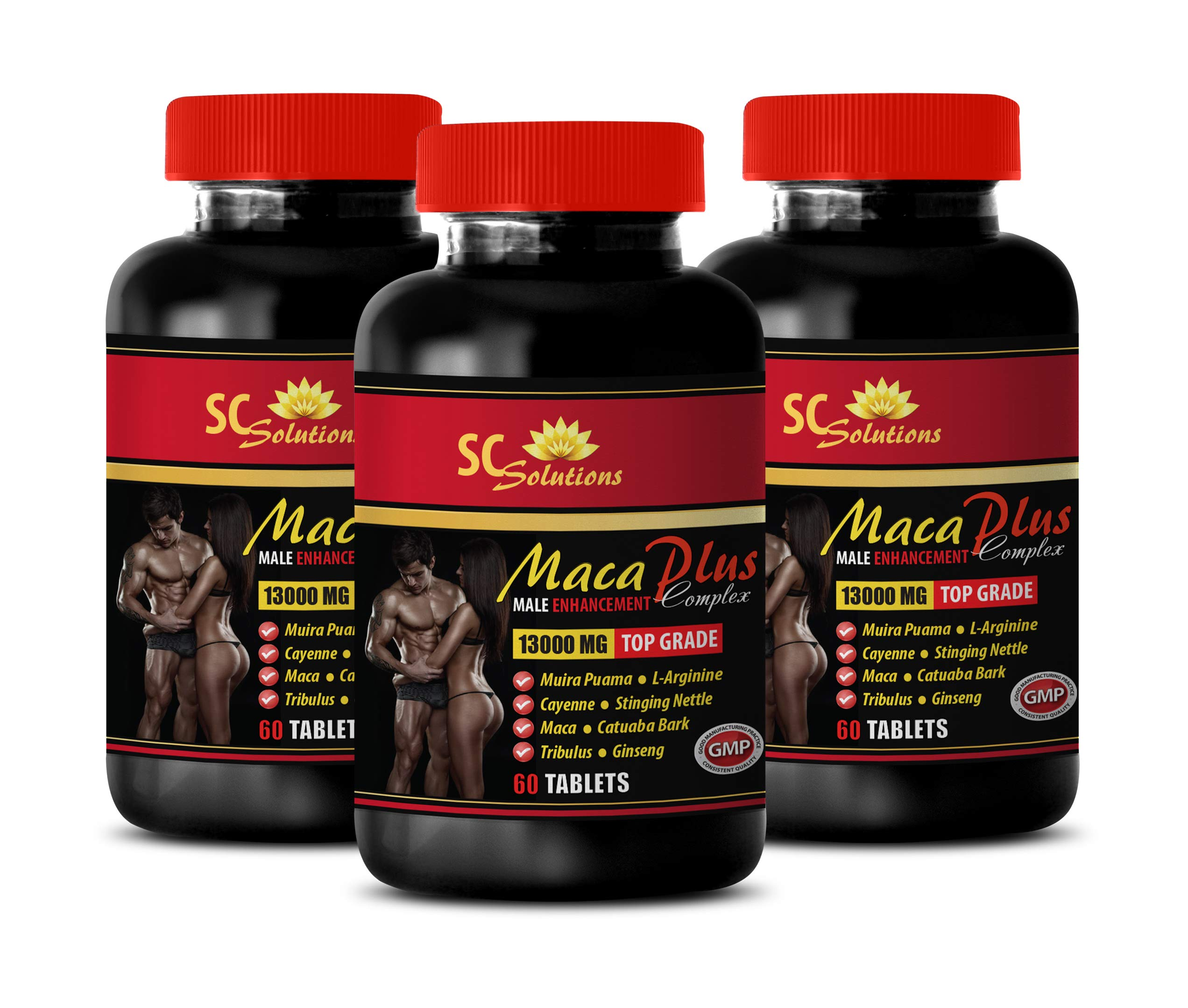 Sexual Supplements for Men - MACA Plus Complex - Male Enhancement - tribulus Ginseng - 3 Bottles 180 Tablets