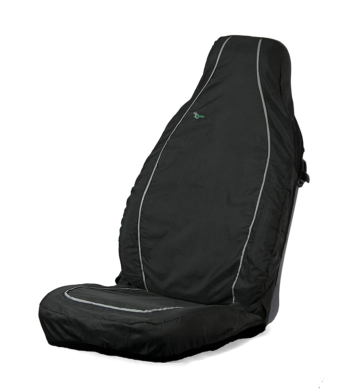 Green Town and Country Covers 3D Stretch Front Seat Cover