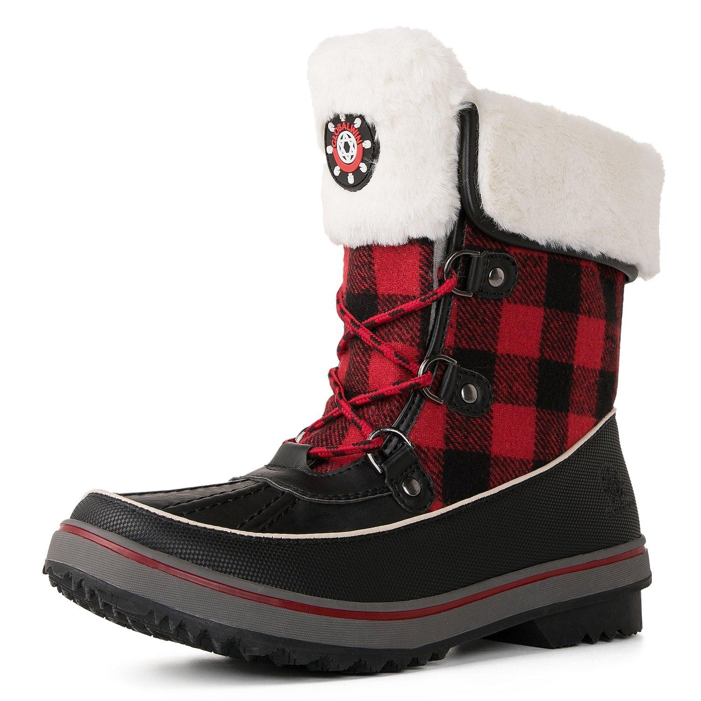 Global Win GLOBALWIN Women's Waterproof Winter Snow Boots B0762BW7T7 10 B(M) US|1736black/Red