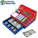 73-Pieces Learning Resources Pretend & Play Calculator Cash Register