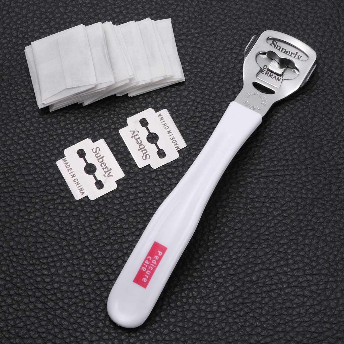 Foot Callus Cuticle Hard Skin Remover Rasp Cutter with 20 Blades