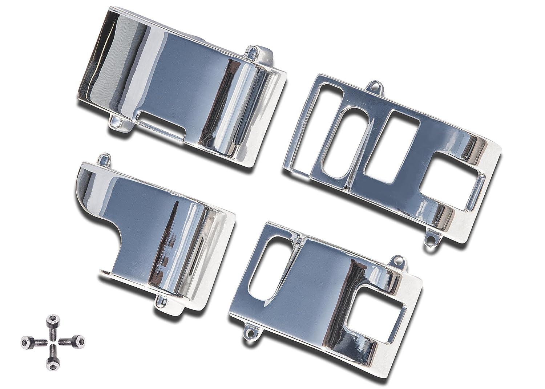 Yana Shiki BSH3 Chrome Handlebar Switch Housing Set for Yamaha V-Star 1100 Silverado//Classic