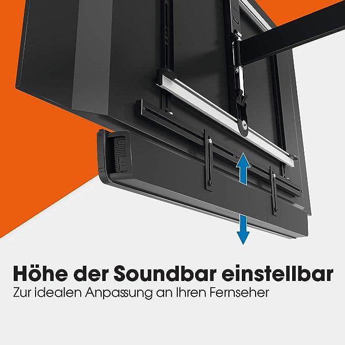 Vogel S Sound 3550 Universal Soundbar Halterung Auch Geeignet Für Bose Soundbar 500 700 Sonos Arc Beam Playbar Samsung Sony Lg Und Jbl Halter Für Vesa 100 Bis 600 Max Gewicht 6 5 Kg