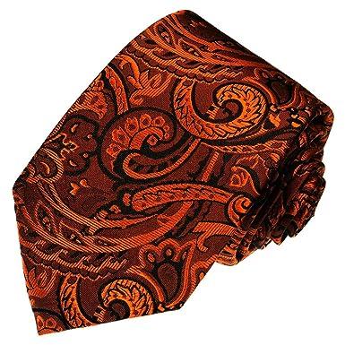 LORENZO CANA - Corbata - Paisley - para hombre naranja marrón ...