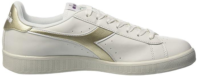 Diadora Game P Chromium, Sneakers Basses Homme, Blanc Cassé (Bianco/Argento), 40 EU