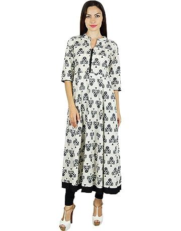 fd4e7f4ca Bimba Women A-Line Anarkali Kurti Long with Pockets Designer Blouse