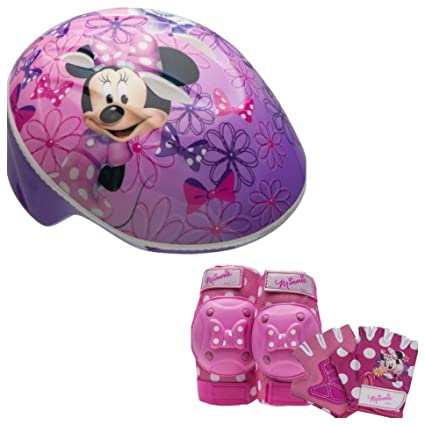 35cf039c0a9 Image Unavailable. Image not available for. Color: Disney Minnie Mouse  Girls Toddler Skate / Bike Helmet Pads & Gloves - 7 Piece Set