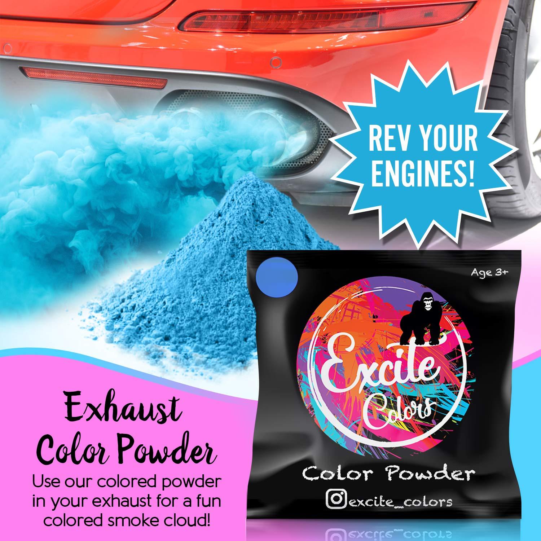 Amazoncom Excite Colors Gender Reveal Powder 2lb Blue Car