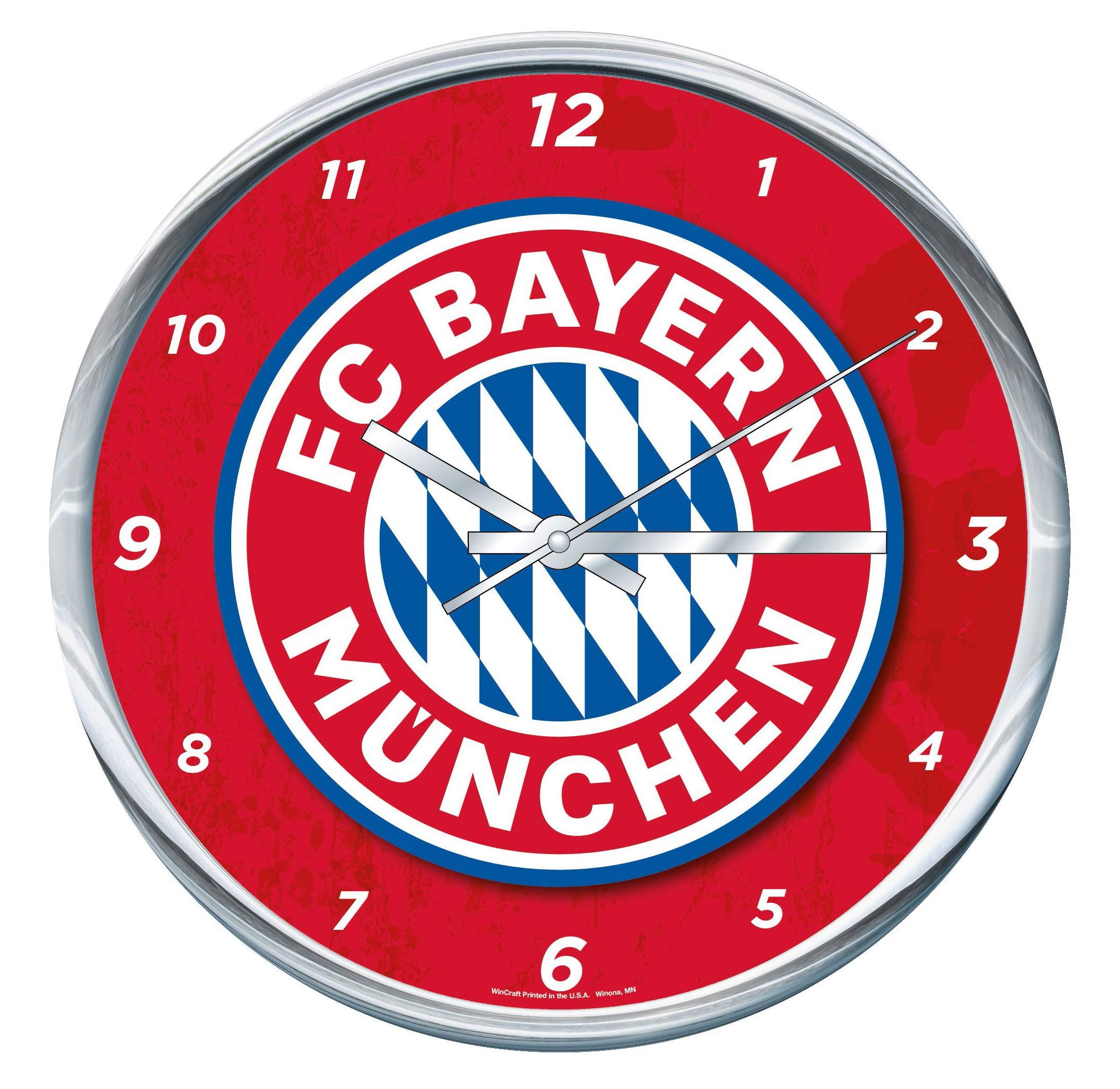 Wincraft FC Bayern Munich Wall Clock Chrome Plated 12'' Round by WinCraft