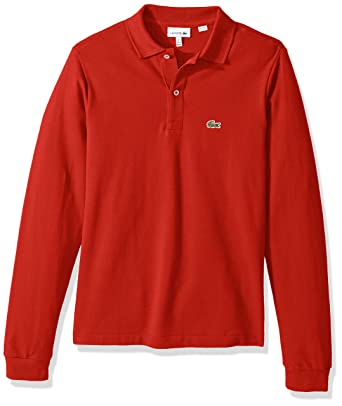 a8292f93510e8 Amazon.com  Lacoste Boy Long Sleeve Classic Solid Pique Polo  Clothing
