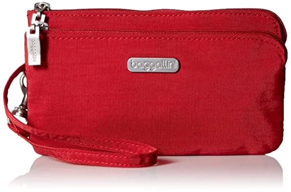 0df87d5f55 Image Unavailable. Image not available for. Color  Baggallini Double Zip  Wristlet with RFID ...