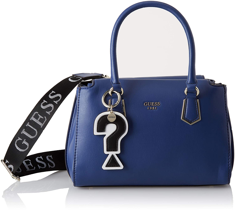 blue Felix Sacs Portés 28x18x14 Femme Guess Main w Bleu X Cm nUfwSqnYC