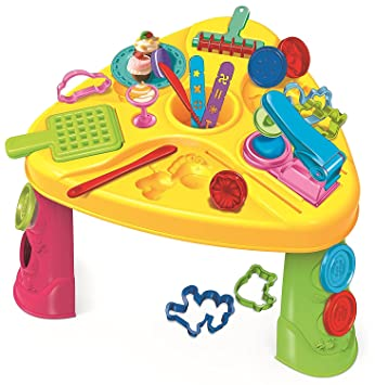 Children Kids Creative Deluxe Play Dough Activity Table Set with ...