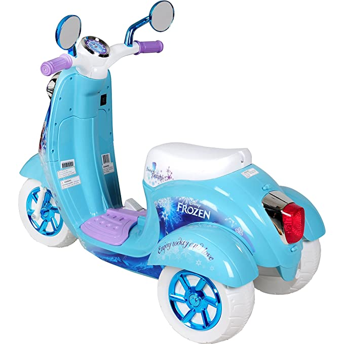Amazon.com: Disney Frozen 3-Wheel Scooter 6-Volt battery ...