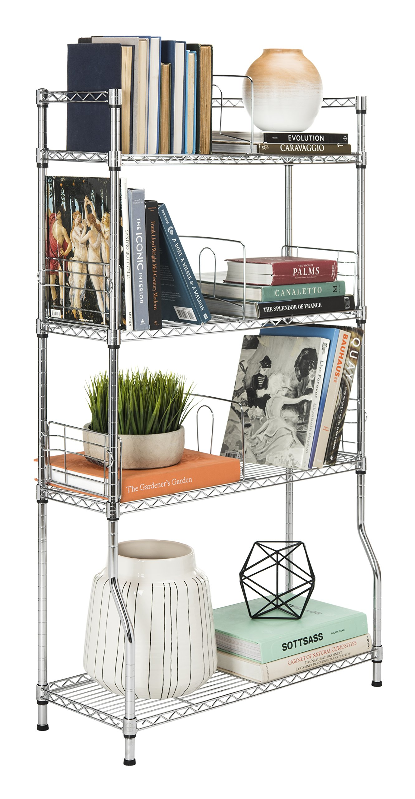 happimess Hope 31.5'' 4-Tier Adjustable Baker's Rack, Chrome by happimess