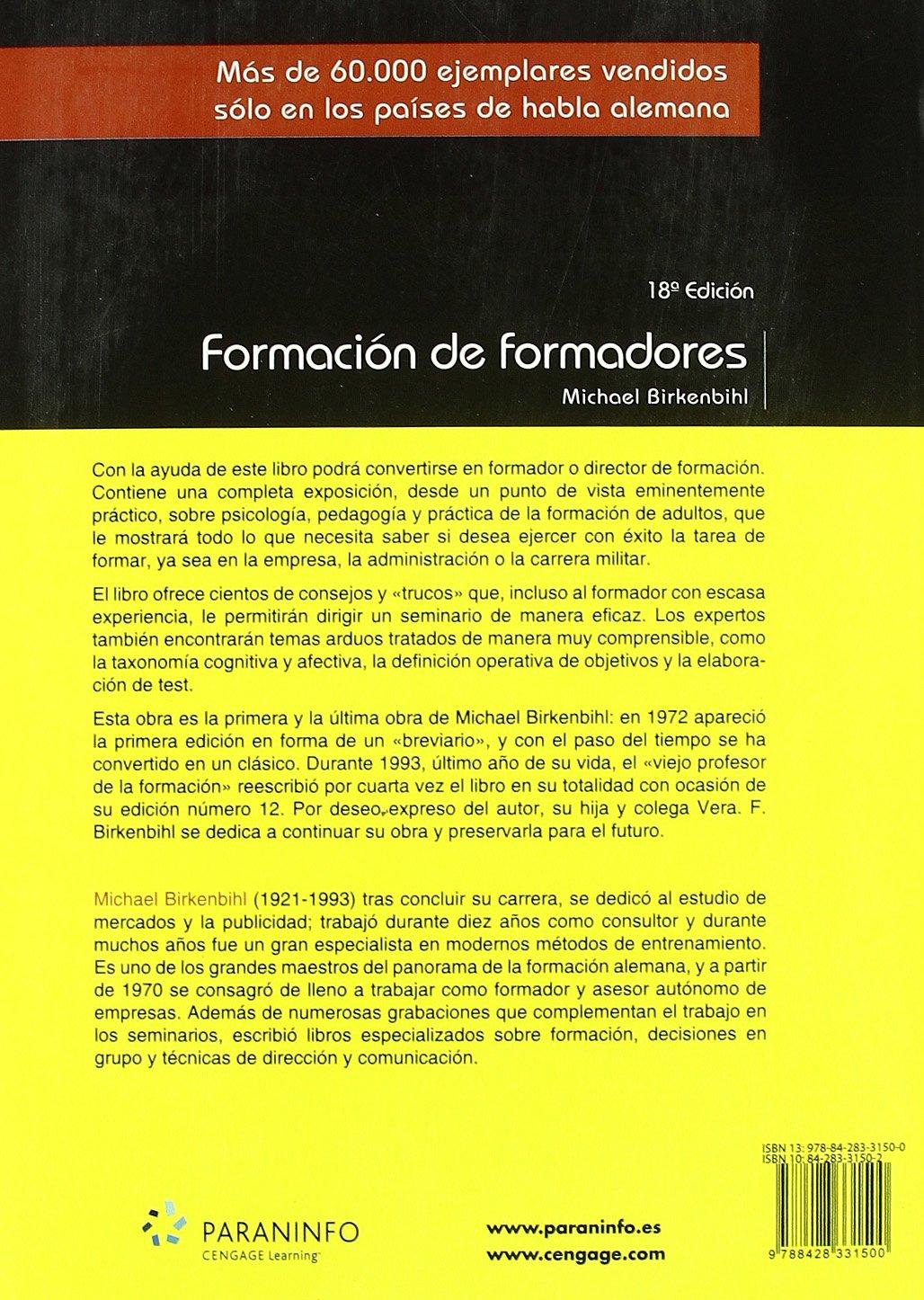 Formación de formadores (Educacion): Amazon.es: MICHAEL BIRKENBIHL : Libros