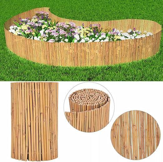 Tuduo Valla de jardín de bambú Redondo 500 x 50 cm Kit Vallas jardín Plantas: Amazon.es: Jardín