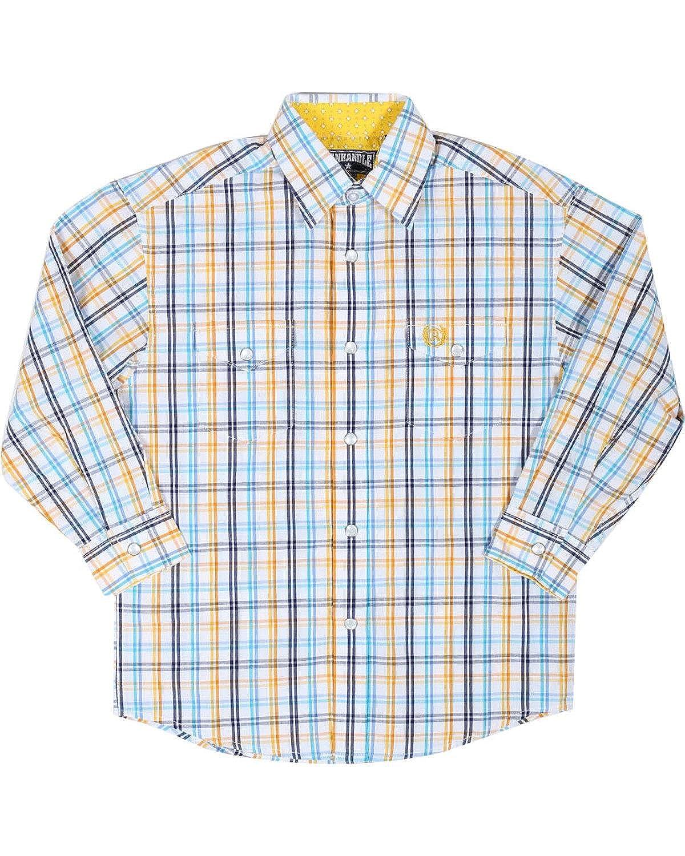 C0s7147 Panhandle Boys Long Sleeve Button Down Snap Shirt