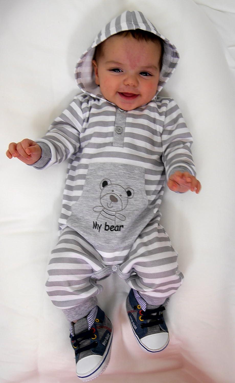 62 My Bear- MAKOMA Baby Strampler mit Kapuze Unisex