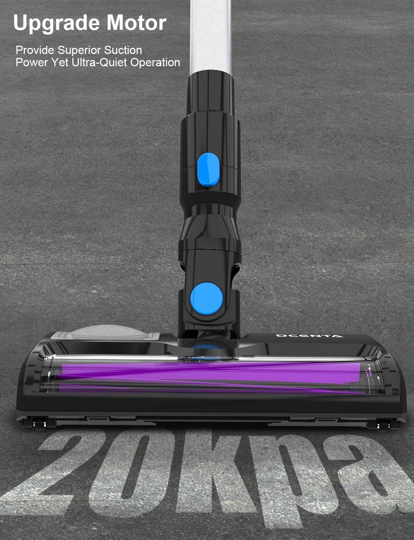 Dcenta Aspirador Sin Cable, Aspirador Ultraligera Escoba Vertical y de Mano 2 en 1, Aspirador 350W, Duración de la Batería es Larga: Amazon.es: Hogar