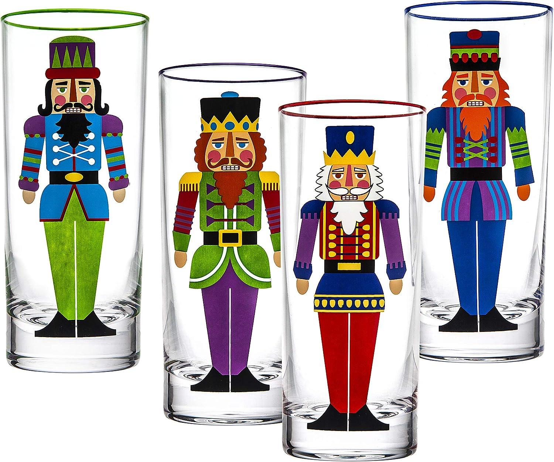 Stylish themed glass set tumbler set