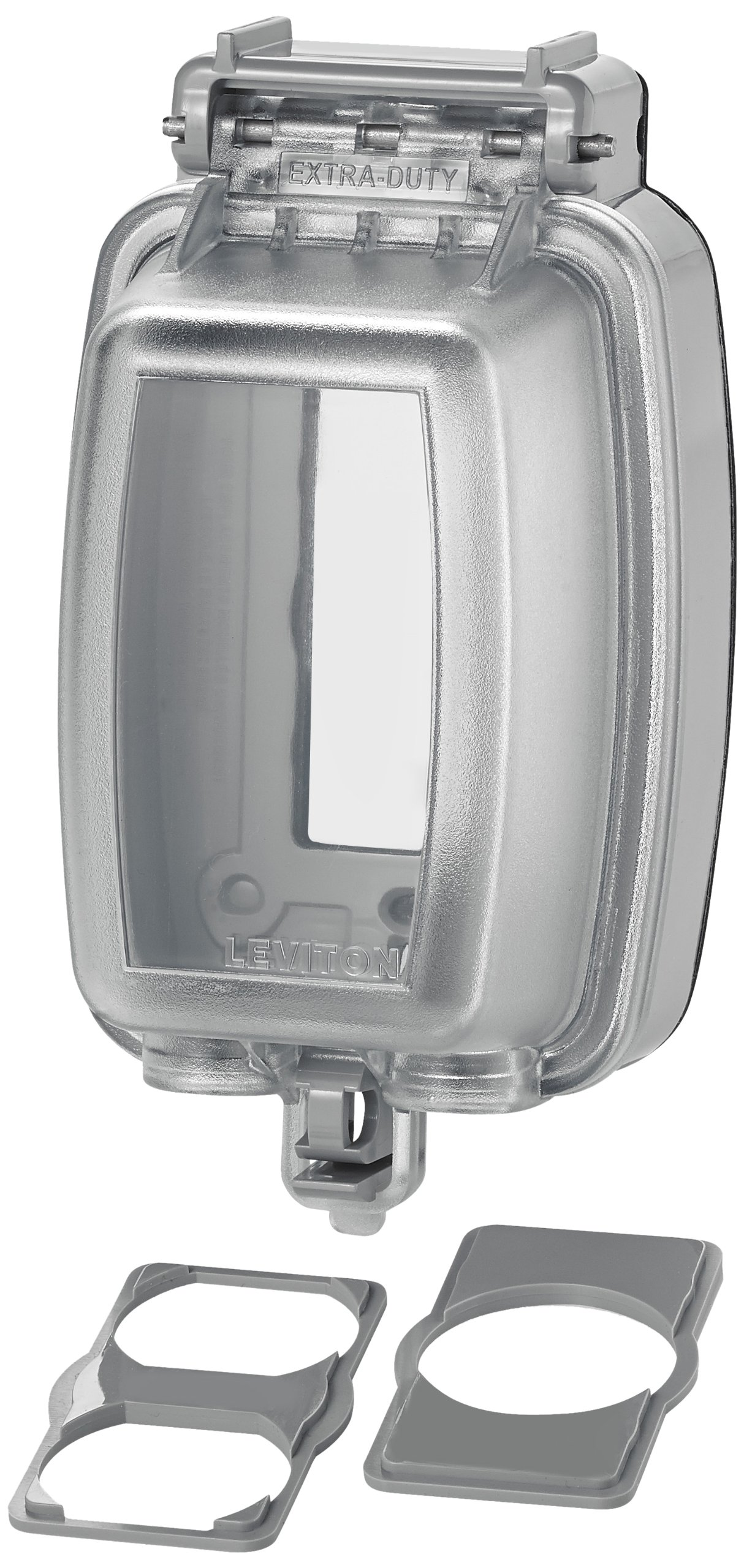 Leviton 5980-UCL Vertical While-in-Use Cover for GFCI/Decora Duplex and Single Outlet, Clear by Leviton