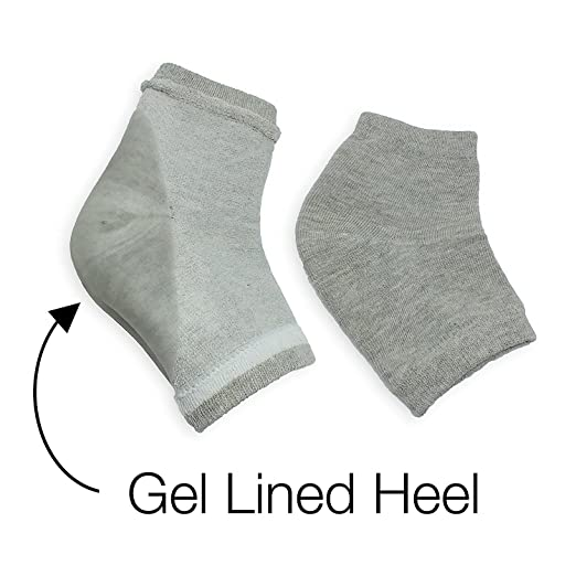 68783cd53 Moisturizing Silicone Gel Heel Socks for Dry Hard Cracked Skin Open Toe  Comfy Recovery Socks Day Night Care ...