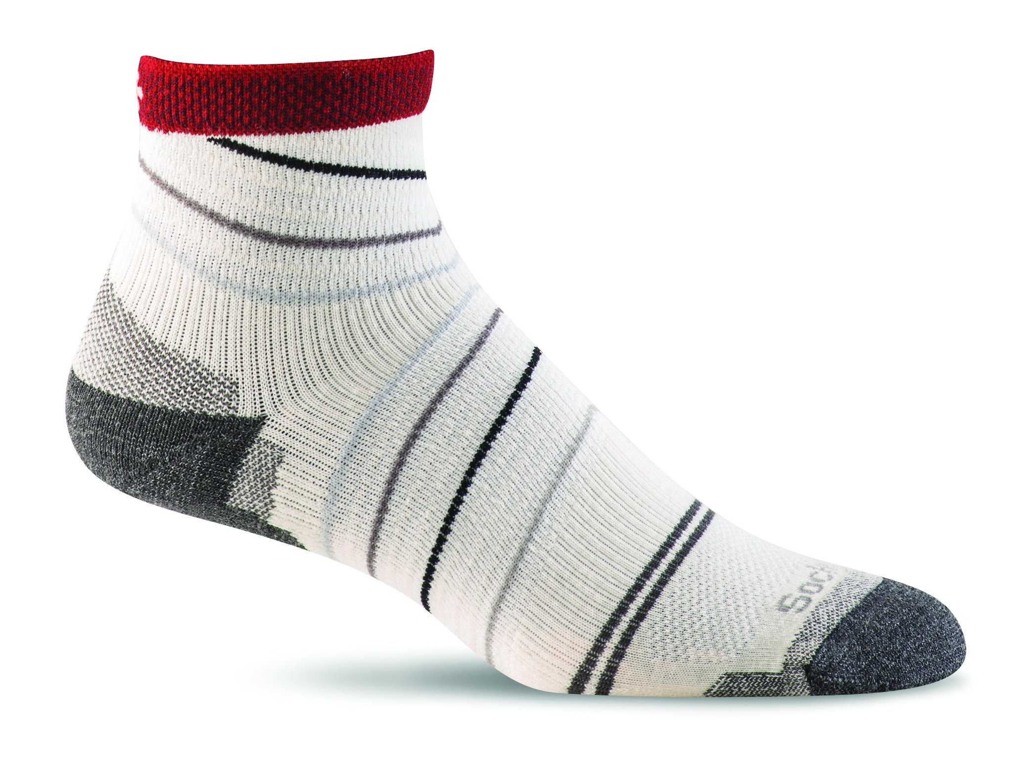 Sockwell Men's Pacer Quarter with Firm Support, Natural, Medium/Large