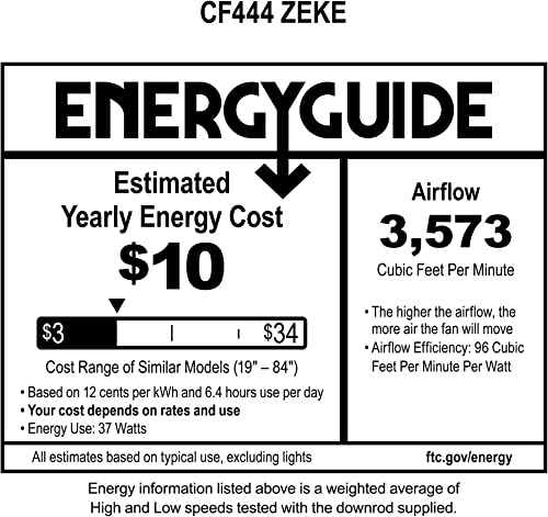 Emerson CF444SW Zeke Ceiling Fan, Satin White