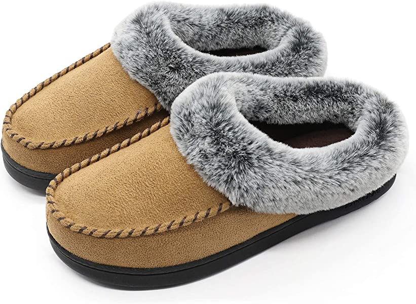 189b6accf Shoes & Handbags ULTRAIDEAS Womens Yarn Cable Knit Slippers Memory Foam  Anti-Skid Indoor/Outdoor House ...