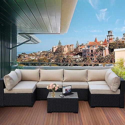 Valita 7 Piece Outdoor PE Wicker Furniture Set