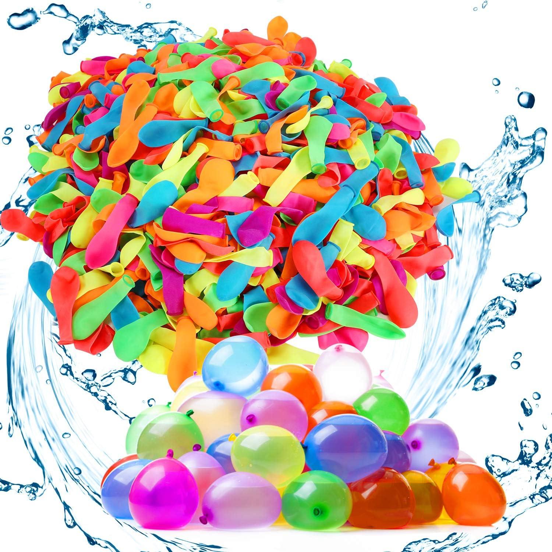 Gafild Globos de Agua,1000 Colorido Globos Globos de Agua Látex Water Balloons para Fiesta al Aire Libre Jardin Juguete de Diversion para Playa