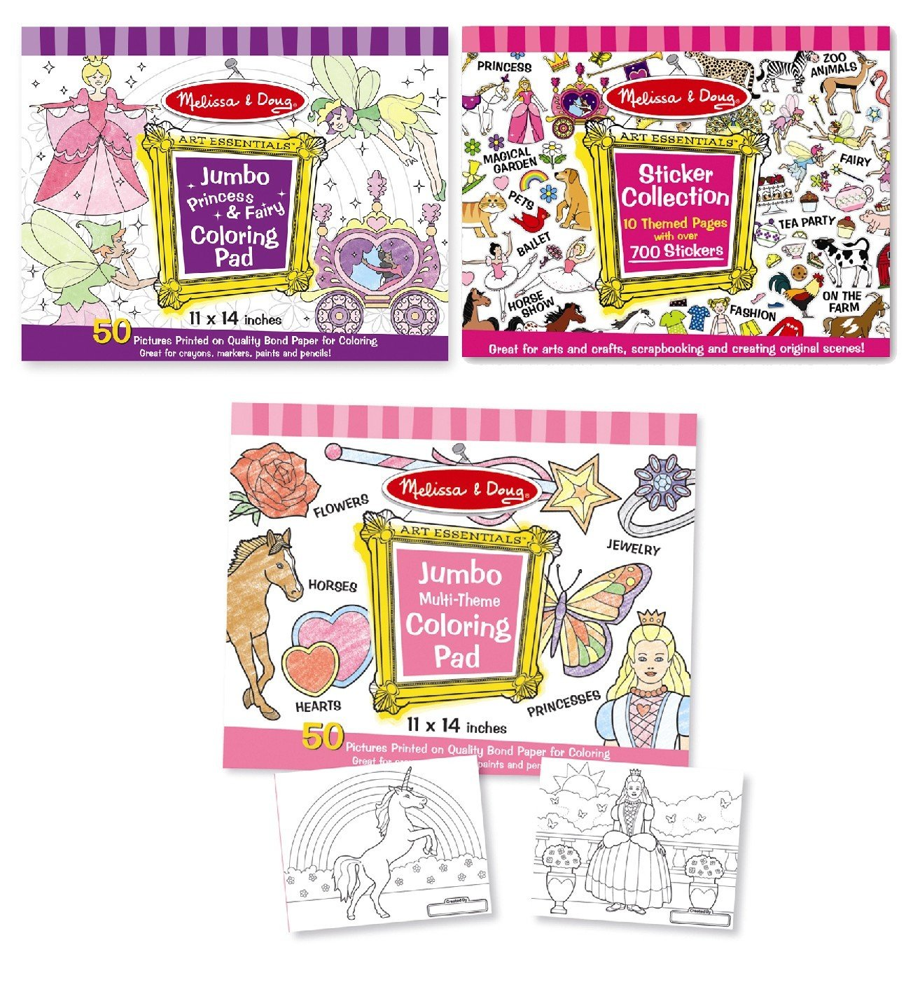Amazon.com: Melissa & Doug Sticker Collection and Coloring Pads ...