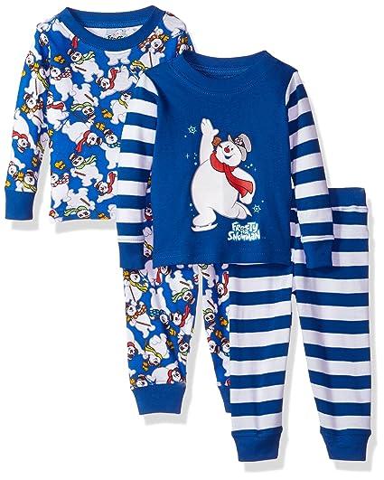 5d30334d8725 Frosty the Snowman Baby Infant Frosty the Snowman 4-Piece Pajama Set, Blue,