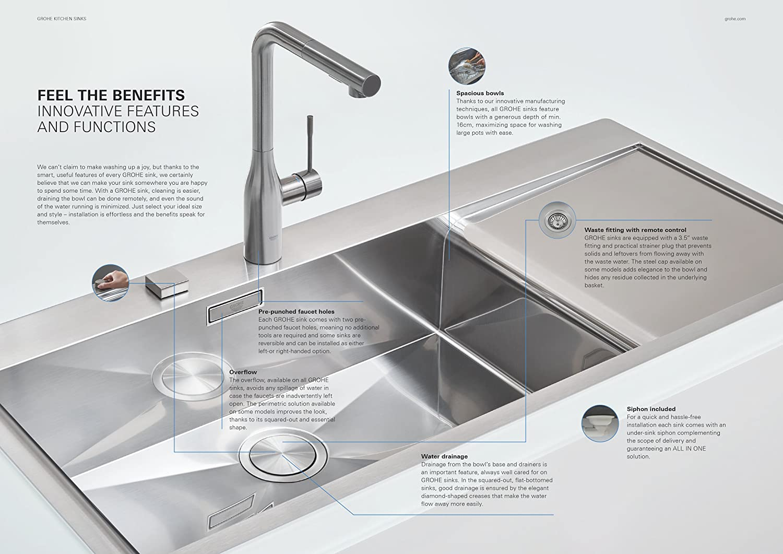Grohe 31562sd0 k200 kitchen sink bau tap bundle amazon co uk diy tools