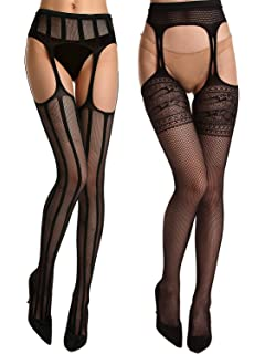 Opaque criss-cross sheer pantyhose set