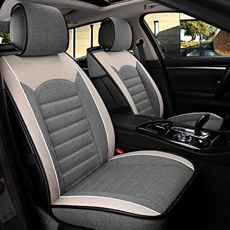 Groovy Inch Empire Sport Style Linen Flax Super Breathable Car Seat Covers Full Set Adjustable Seat Covers For Audi Jeep Ford Mercedes Benz And 98 Other Gmtry Best Dining Table And Chair Ideas Images Gmtryco