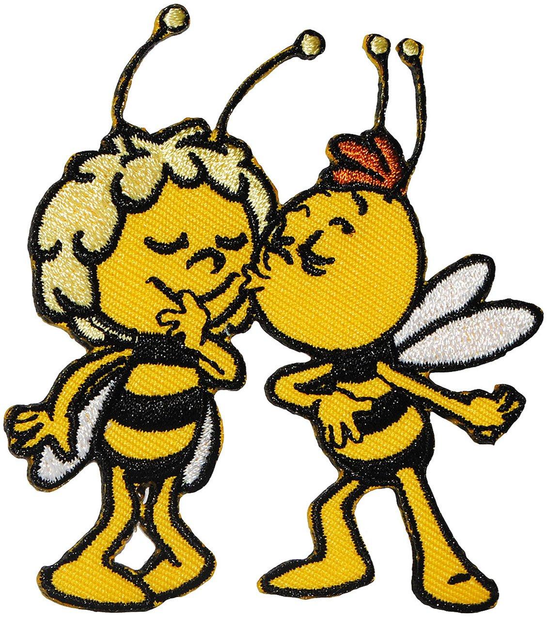 alles-meine.de GmbH 1 Stück _ Bügelbild - die Kleine Biene Maja - Kuss von Willi - 6, 7 cm * 8 ..