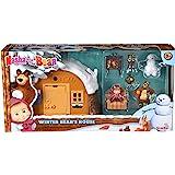 Playset Casa del Oso con nieve 2 figuras y accesorios de Masha y el Oso (Simba 9301023)