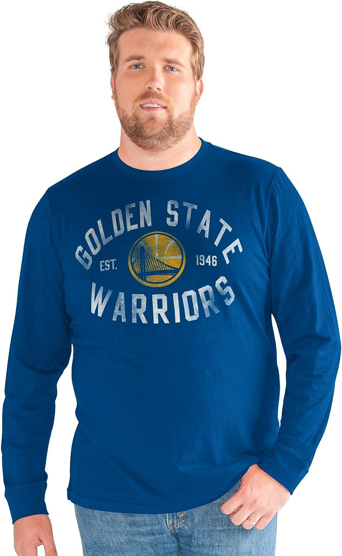 4X Royal G-III Sports NBA Golden State Warriors Big Man Bank Shot Long Sleeve Top