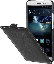 StilGut UltraSlim, Housse en Cuir pour Huawei Mate S, en Noir