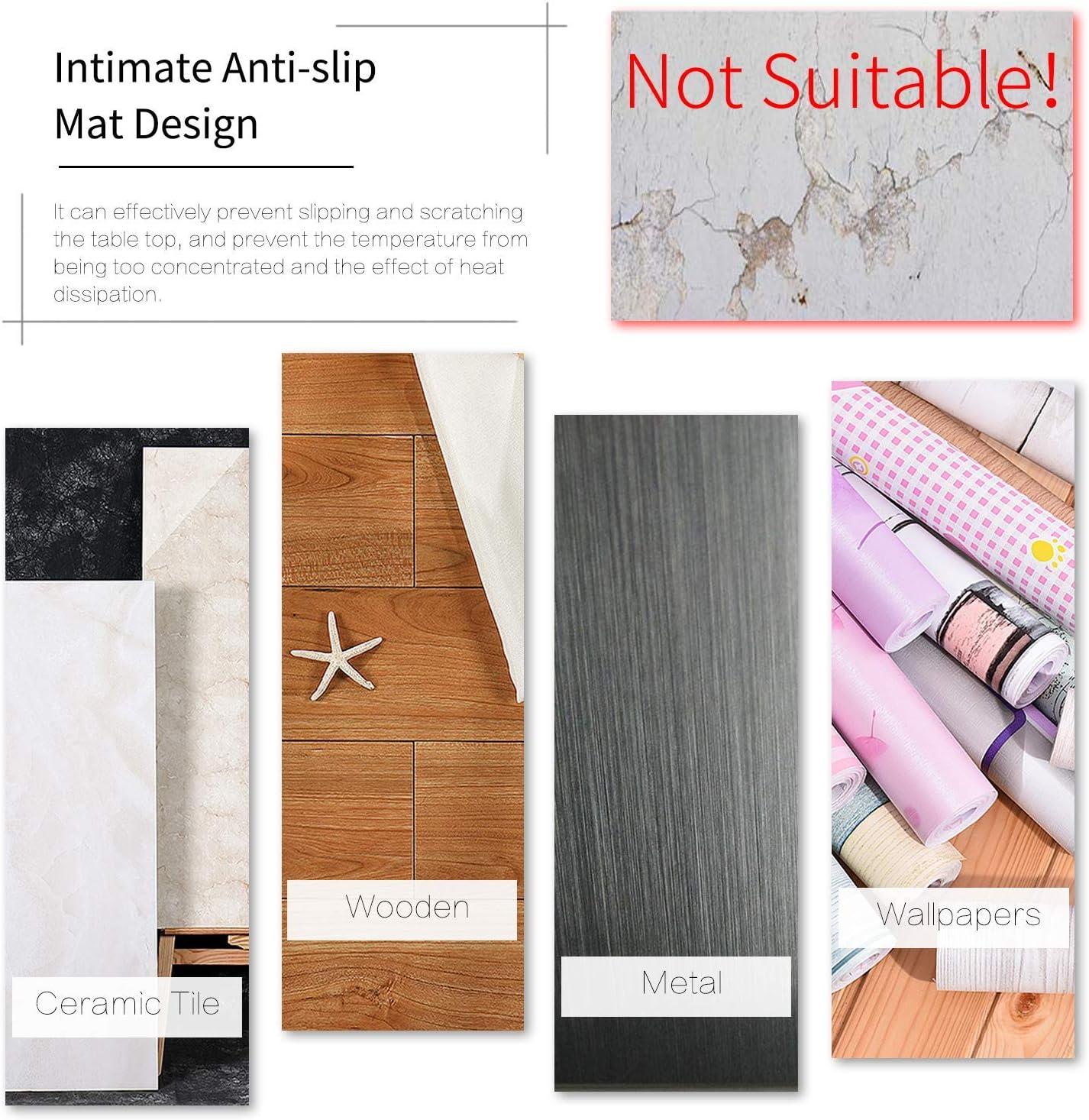 GrunCourt Silicon Wall Protectors Self Adhesive Door Stopper Door Handle Bumper Guard Stopper Rubber Stop White 5 Pcs