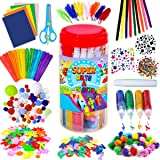 GoodyKing Arts and Crafts Supplies for Kids - Craft Art Supply Jar Kit for Student Age 4 5 6 7 8 9 10 Year Old Crafting…