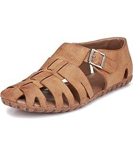 02776ebbd72a5 EL PASO Men s Faux Leather Tan Impressive Comfortable Men Sandals ...
