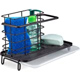 kitchen sink caddy holder for dish Soap or sink sponge holder - Brush Holder sink tidy Bronze finish kitchen sink caddy