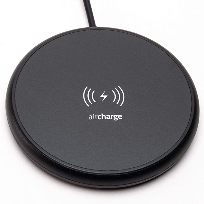 Samsung Galaxy S10//S10 Plus//S10e//S9//S9 Plus//S8 Qi Certified Wireless Charging Pad for iPhone XS//XS Max//XR//8//8 Plus//11 Series Aircharge Official Slimline Wireless Charger Note 8//9 and More AirPods White