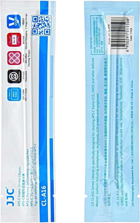 Einzeln Vakuum verpackt und Staubfrei JJC 12 x 16 mm Sensor Reinigungs Swab Kit mit Blasebalg f/ür APS-C//DX Kameras